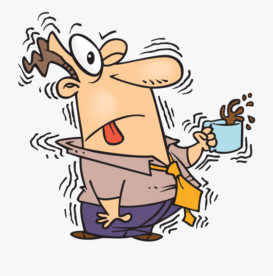 clipart free stock Too much caffeine free. Shaking clipart