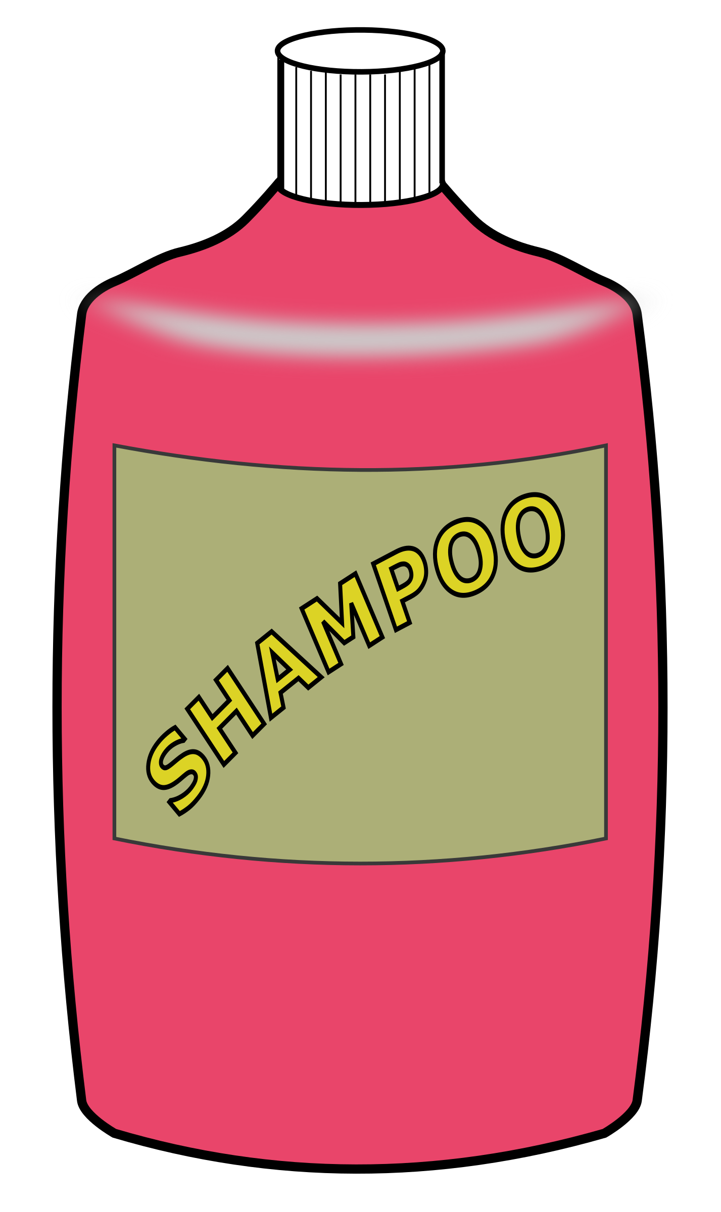 vector free Big bottle image png. Shampoo clipart