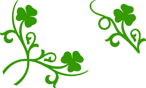picture download Shamrock corner and accent. Clover svg silhouette.