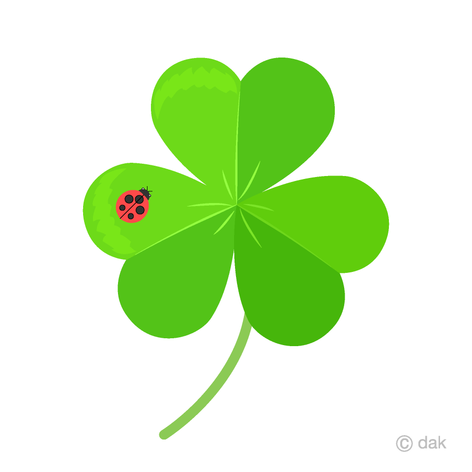 vector freeuse stock Ladybug and free picture. Shamrock clipart