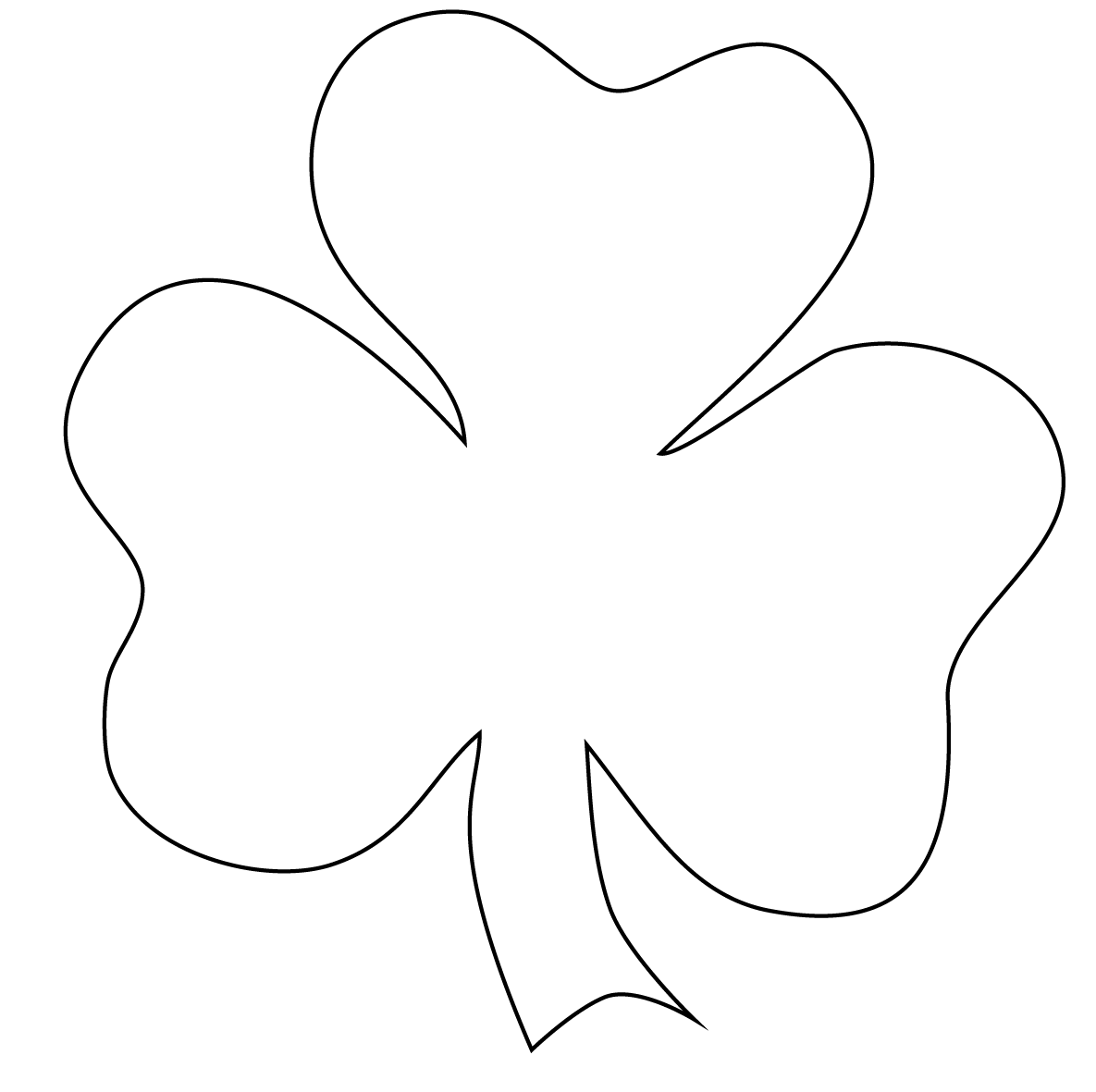 vector royalty free download Shamrock clipart black and white. Free clip art panda