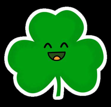 clip download Happy Shamrock Sticker