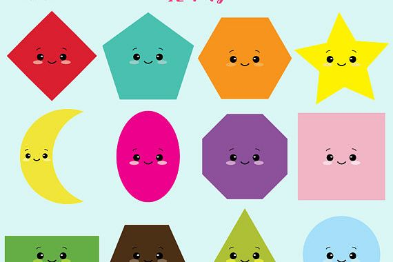 vector free Shapes clipart. Kawaii