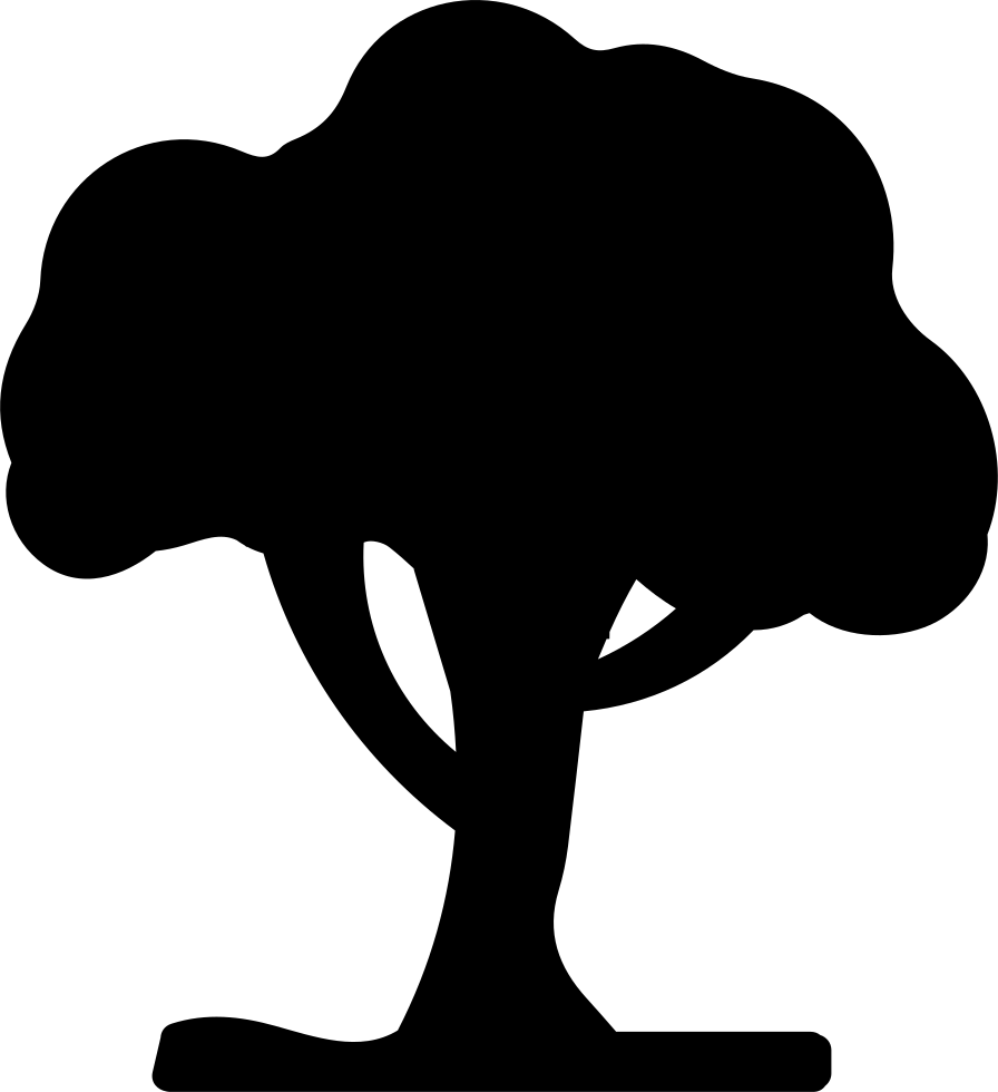 vector black and white Tree Black Silhouette Shape Svg Png Icon Free Download