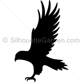 jpg black and white download Hawk Silhouette