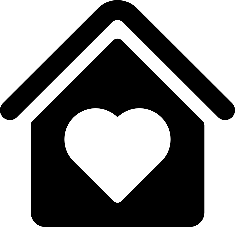 clipart transparent library House With Heart Shape Svg Png Icon Free Download