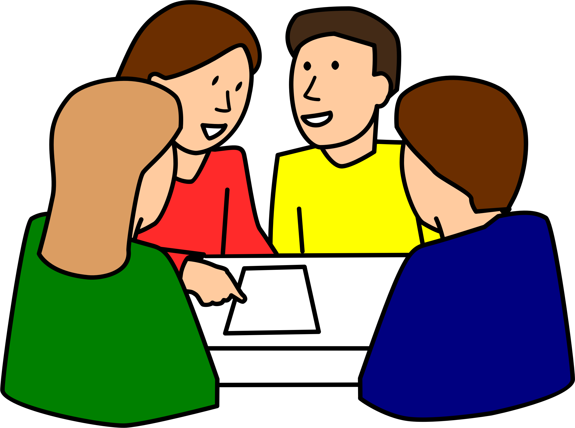 png freeuse stock Free learning group cliparts. Kids talking to each other clipart