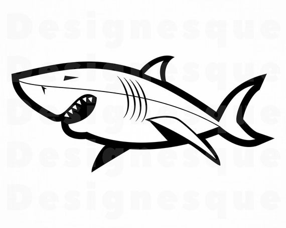 clip art library download Shark clipart. Svg great white files.