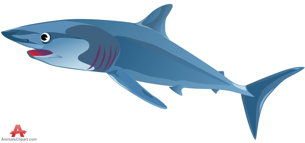 clipart library library Blue design free download. Shark clipart.