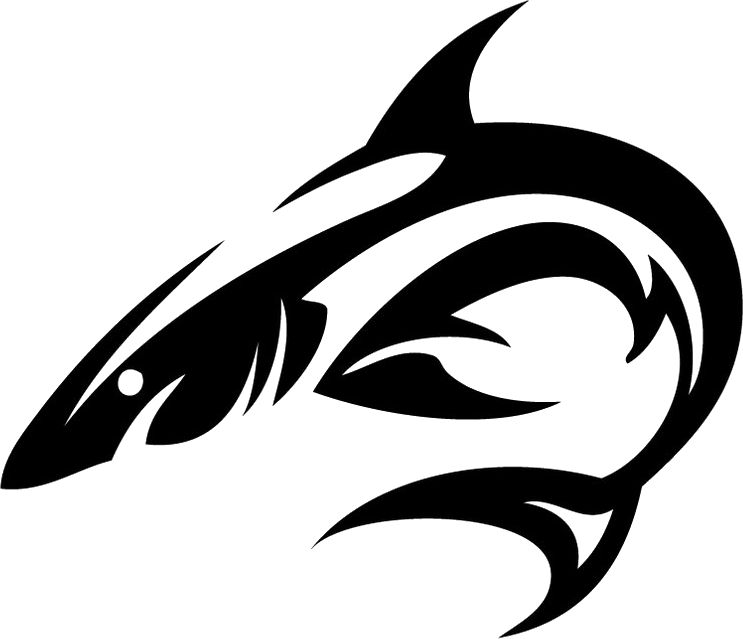 clip art library download Tribal shark tattoo isolated. Drawing sharks pencil