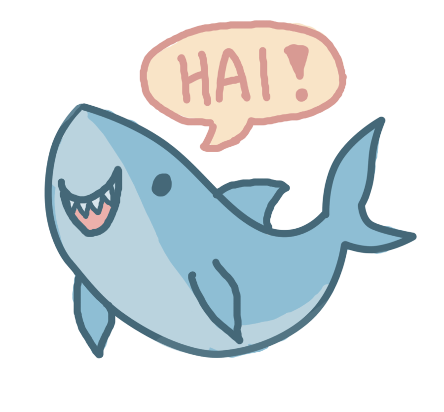 clipart black and white Cute shark at getdrawings. Drawing sharks anime