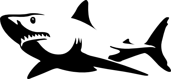 clip art great white shark stencil