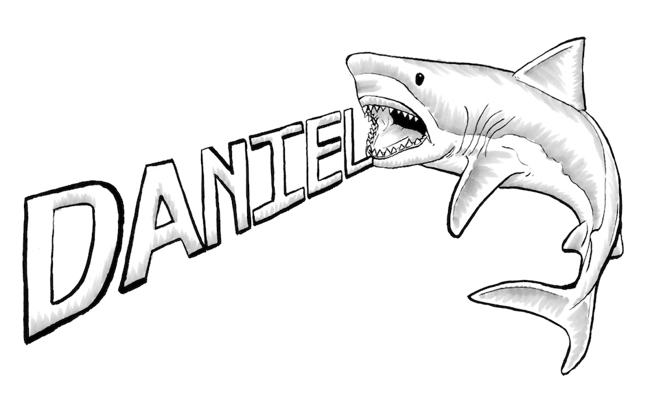 svg black and white Great white shark at. Drawing sharks