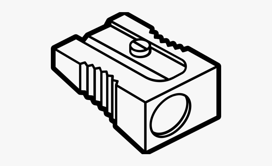 jpg download Pencil black and white. Sharpener clipart