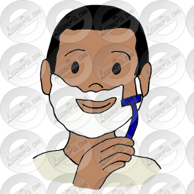 clipart Shave clipart. Picture for classroom therapy.