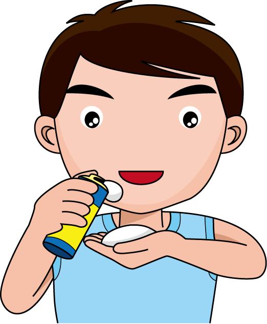 image free stock Beard clipart boy. Shaving clipground