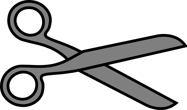 banner transparent Scissors animated clipart