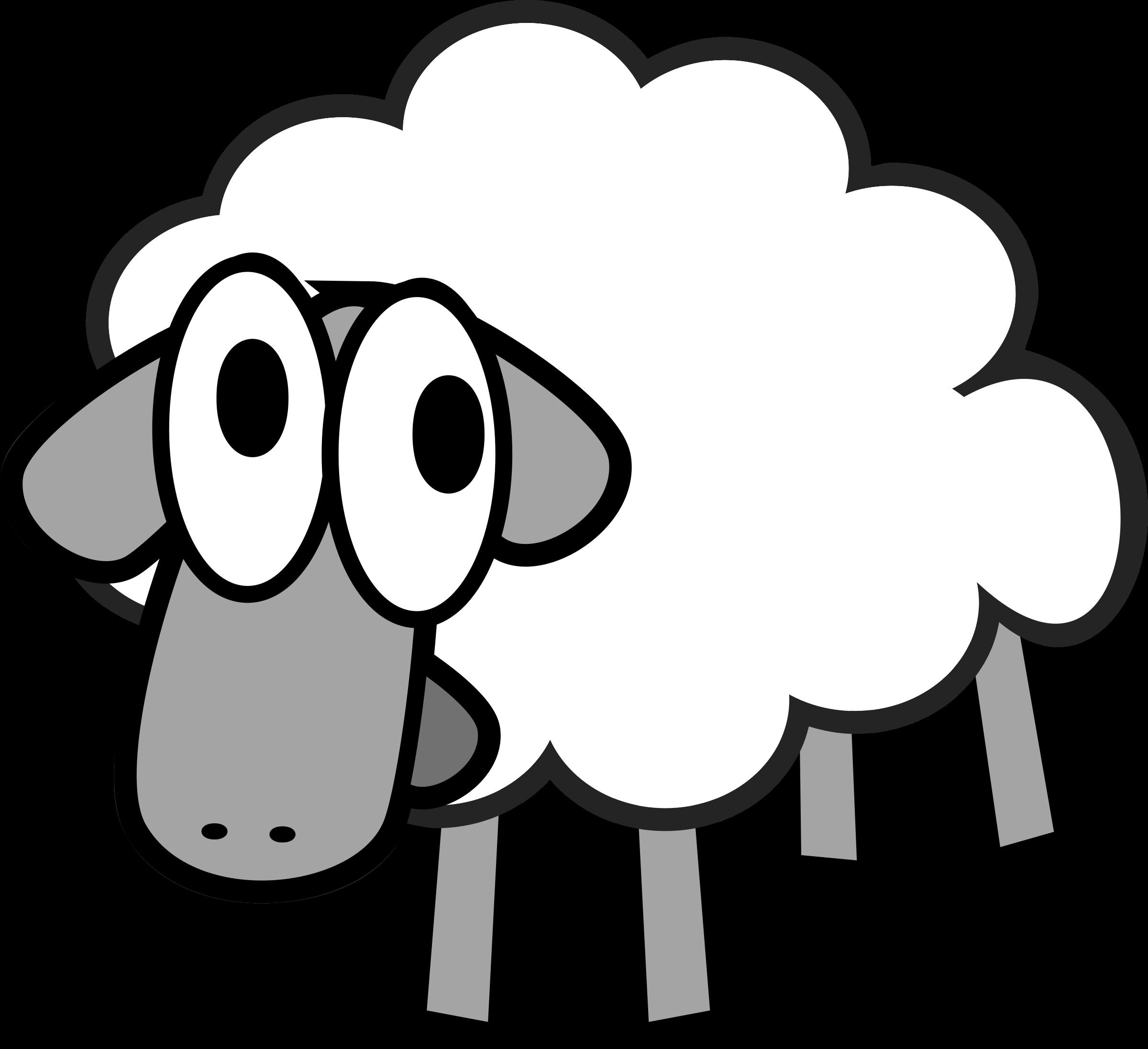 svg black and white library Cartoon clipartblack com animal. Sheep clipart.