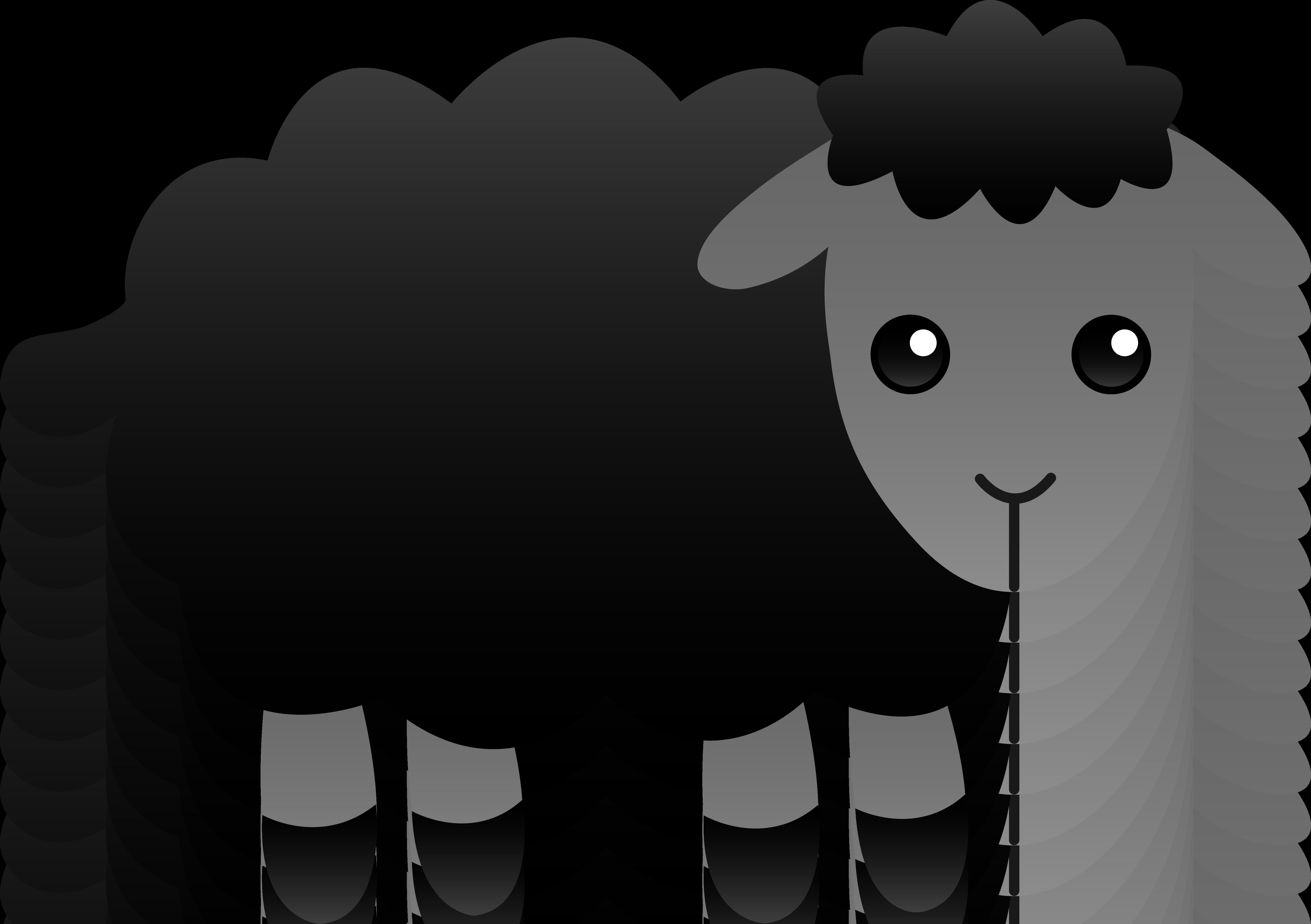 vector black and white Sheep clipart. Cute getbellhop cricut pinterest.