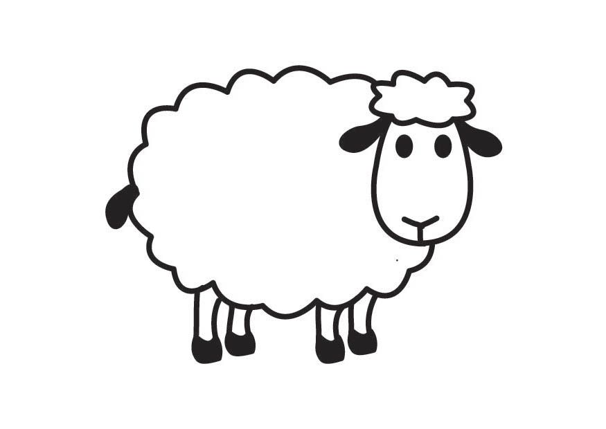picture freeuse stock Sheep clipart. Pages o draw a.