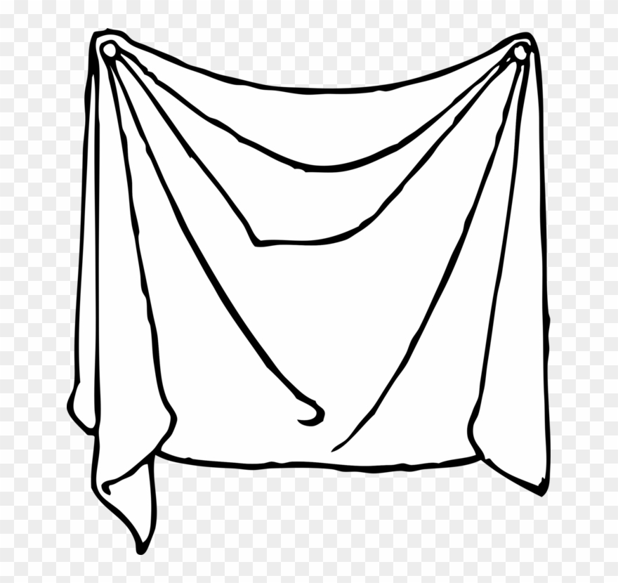 banner freeuse library Sheet clipart. Bed sheets linen line.