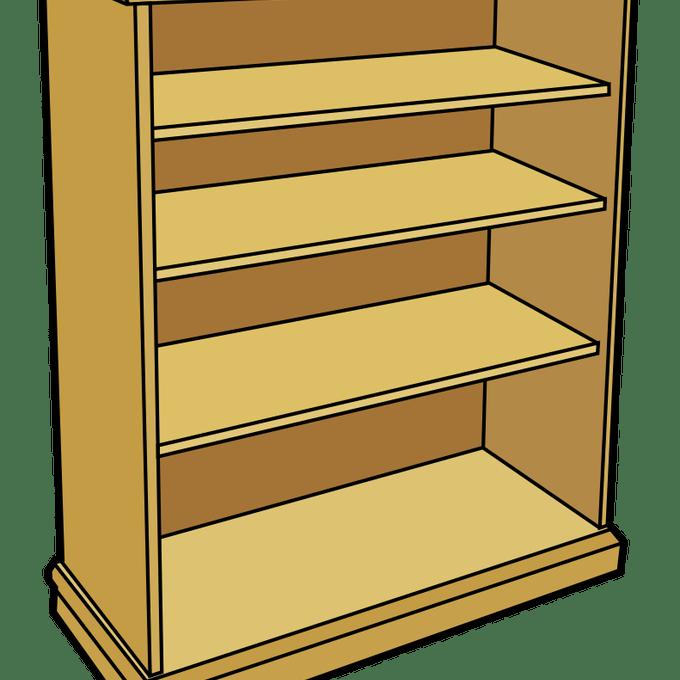 banner freeuse  shelves clip art. Bookshelf clipart genre