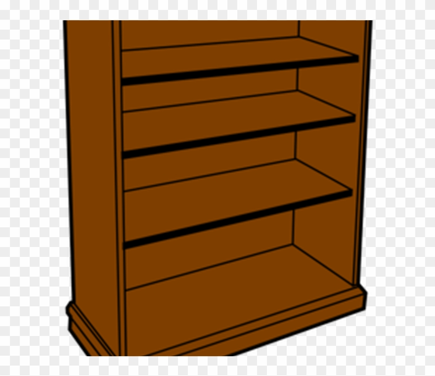 image library Wooden bed book shelves. Shelf clipart