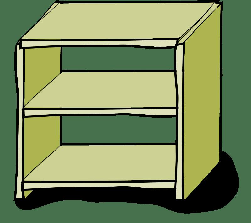 clipart royalty free library Bookshelf vector cabinet. Shelf clipart panda free