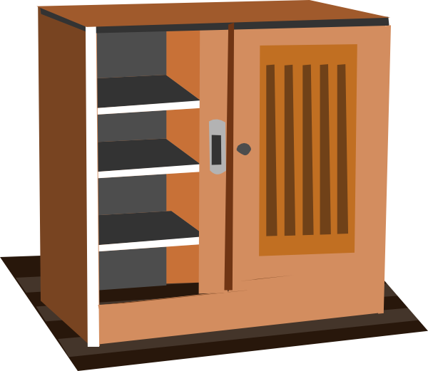 graphic free download Group clip art at. Kitchen cabinet clipart