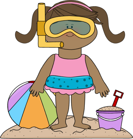 jpg transparent stock Kids swimsuit clipart. Beach clip art girl