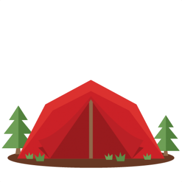 banner freeuse Silhouette at getdrawings com. Camping tent clipart
