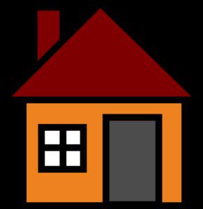 jpg free library Orange House Clip Art at Clker