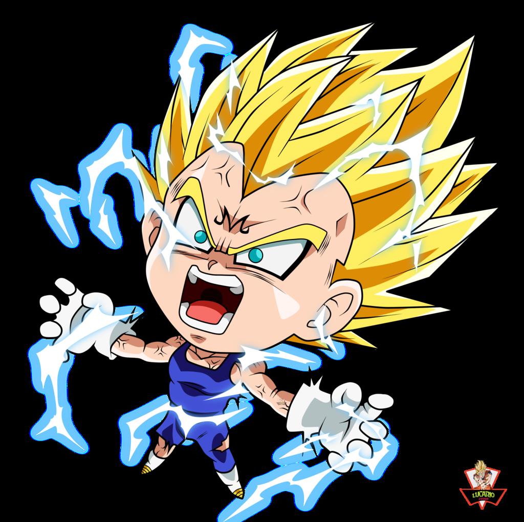graphic stock Vegeta Majin Buu Goku Chibi Shenron