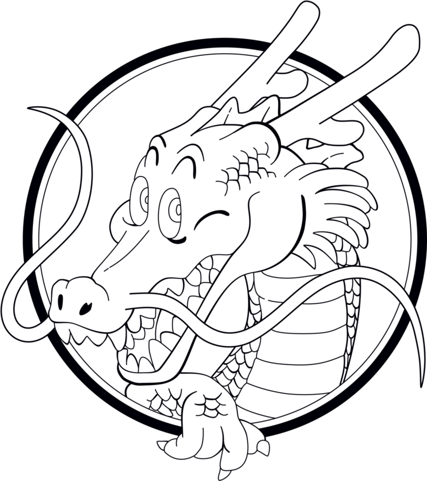 clip art transparent download shenron drawing easy #102932939