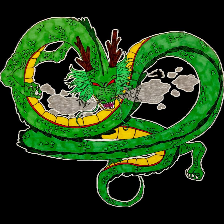 jpg black and white stock Shenron the Eternal Dragon by blackbeltkitten