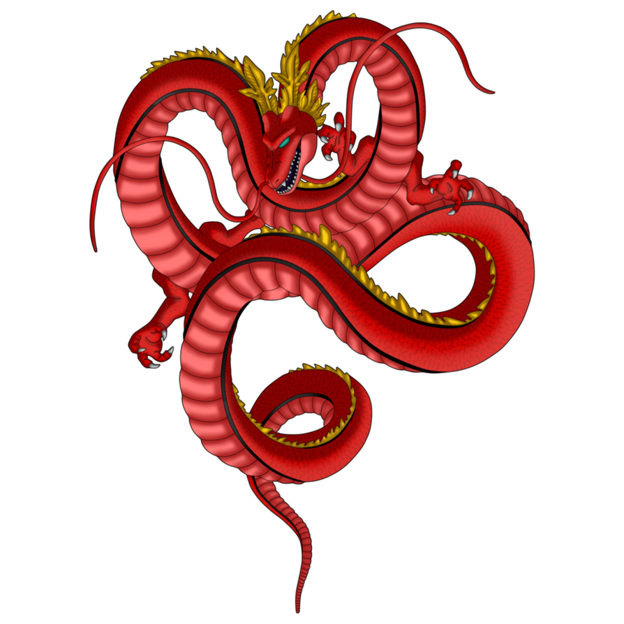vector royalty free library Red Dragon Shenron by byceci on DeviantArt