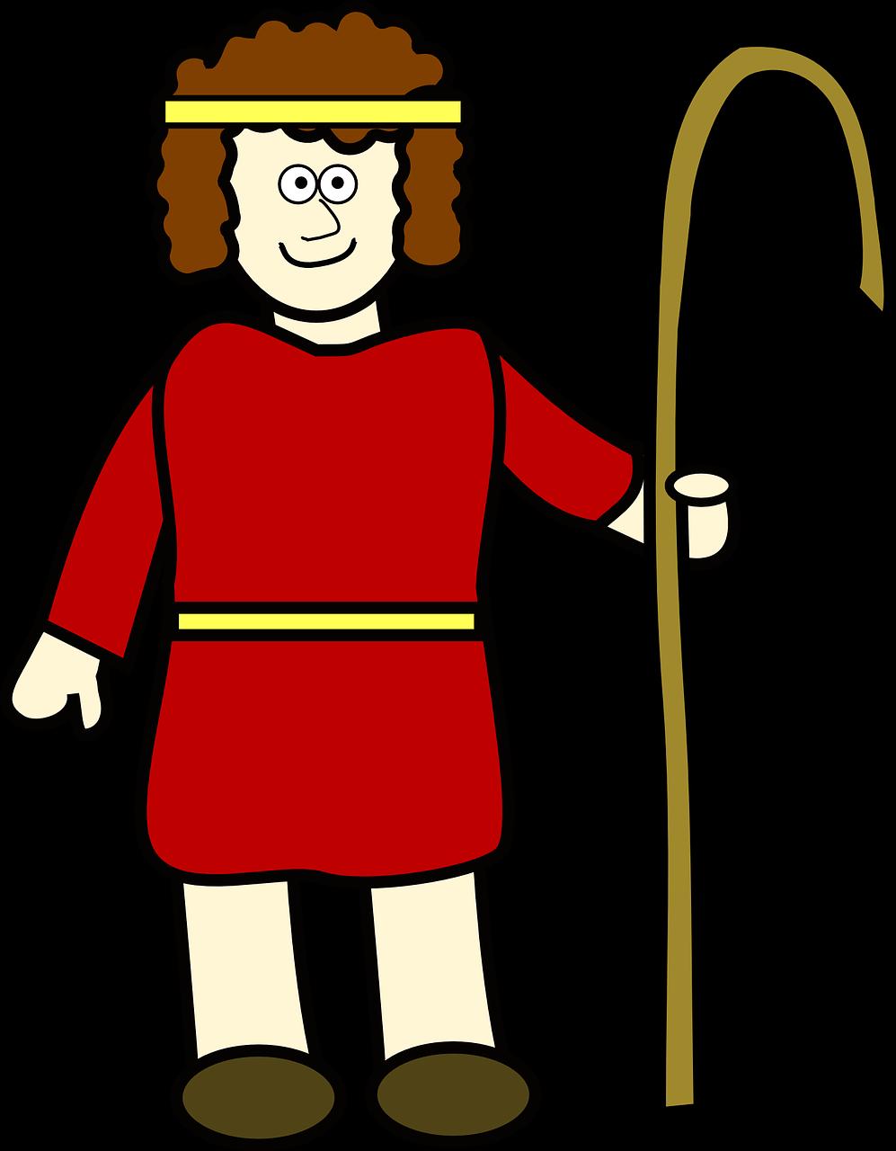 clipart freeuse download David man bible red. Shepherd clipart innkeep.