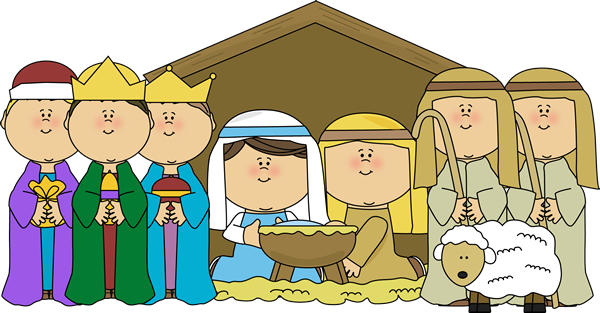 clip free library Nativity Scene with Shepherds and Wisemen Clip Art