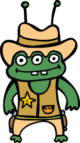 clip freeuse Sheriff clipart. Alien free page of.