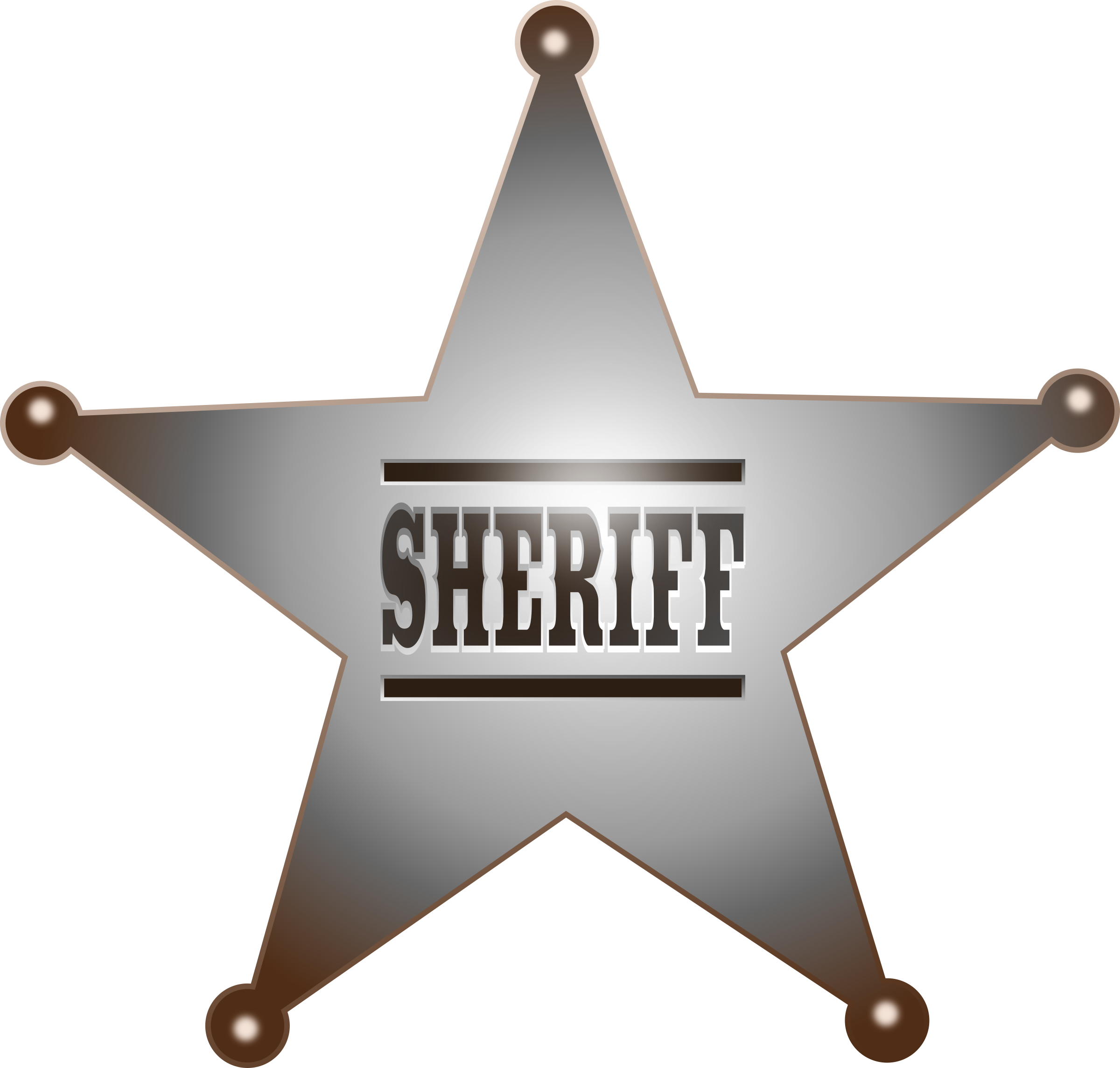 clip art transparent library Star big image png. Sheriff clipart.
