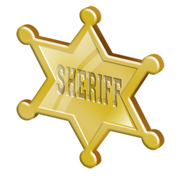 image black and white library Badge icon png insignia. Sheriff clipart.