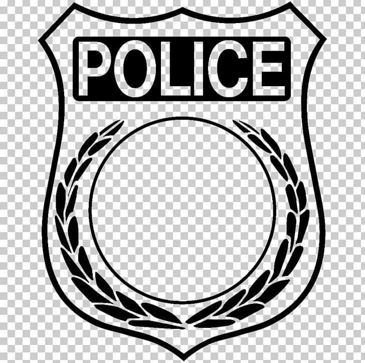 banner black and white stock Sheriff clipart detective. Police officer badge png