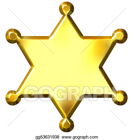 image transparent stock Sheriff's badge clipart. Drawing d golden sheriff.