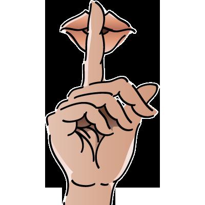 clip library stock shhh clipart finger #83032162