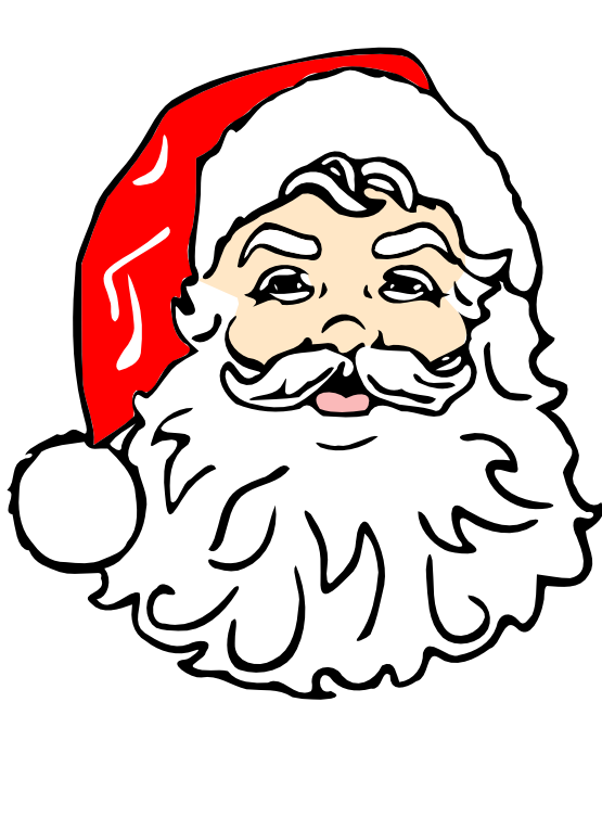 picture black and white library Beard clipart xmas. Santa clip art saying.