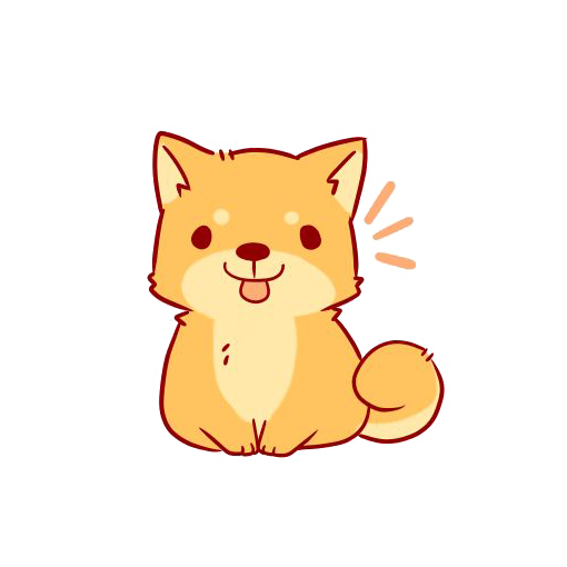 transparent Shiba Inu Drawing Chibi Sticker Cartoon