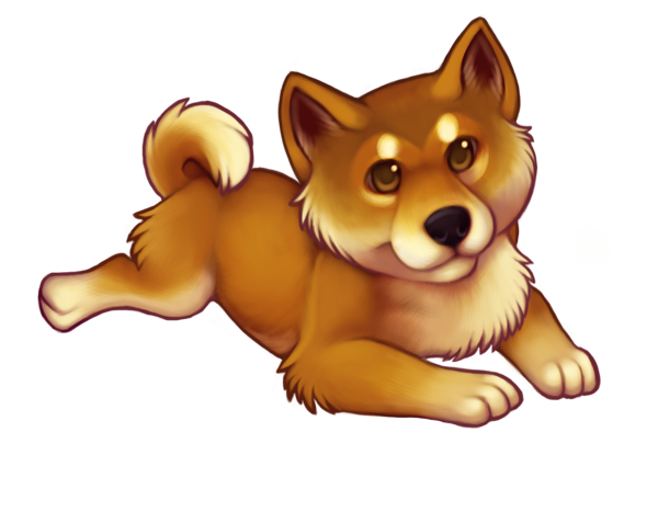 clip art transparent download Red Chibi Shiba Inu by bawky on DeviantArt
