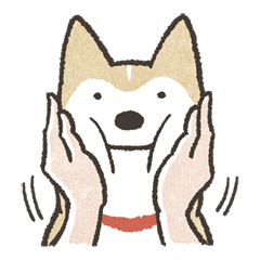 vector transparent Soothing Shiba