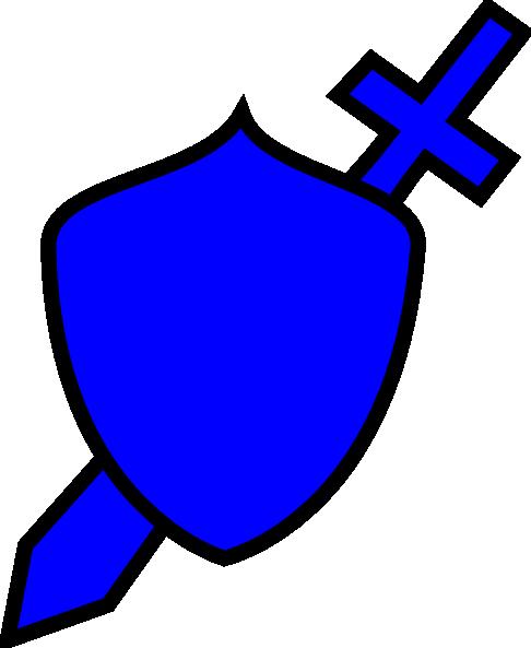 svg freeuse download Royal Blue Sword And Shield Clip Art at Clker