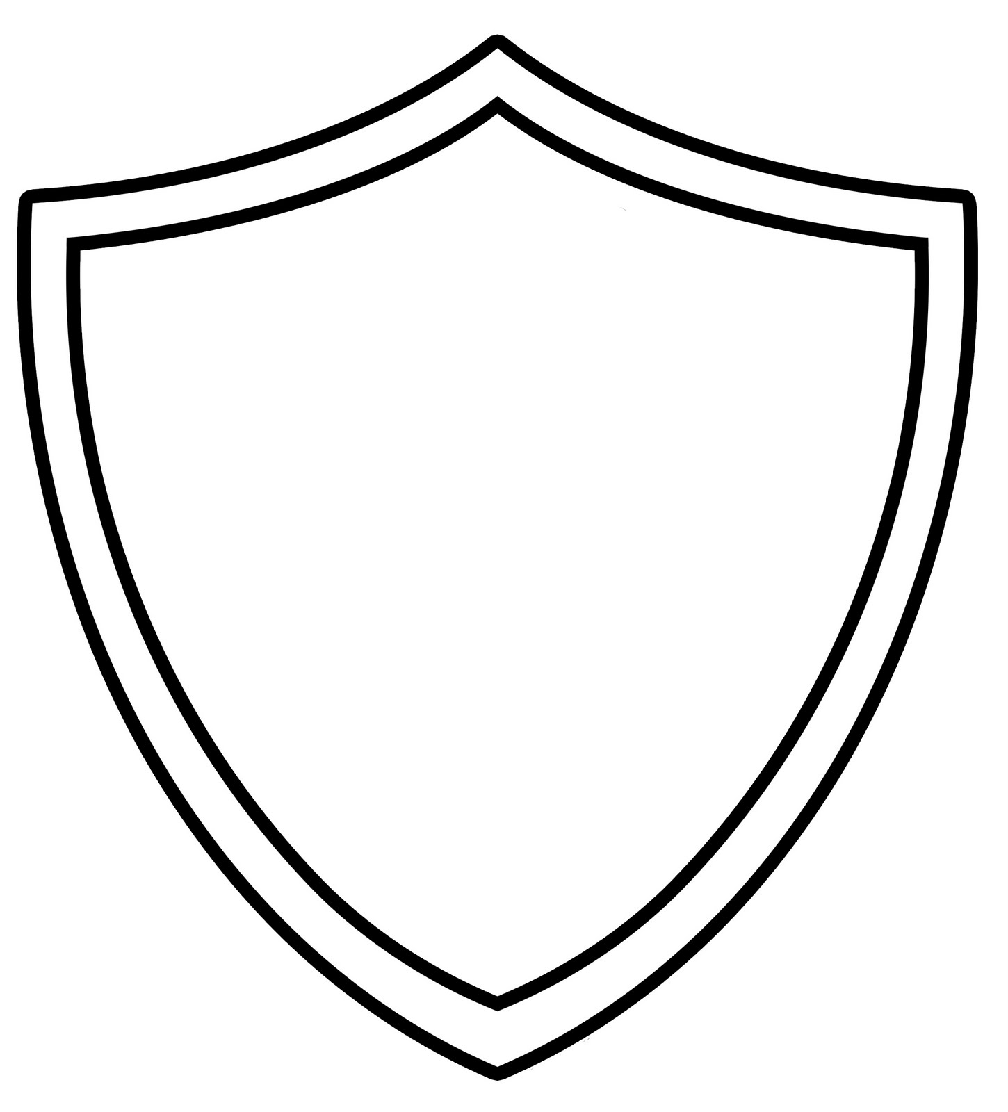 jpg library stock Free black and white. Shield clipart